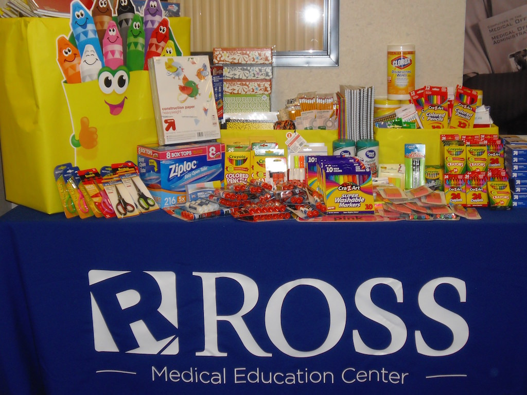 Ross Medical Education Center Port Huron-Cleveland Elementary School Supply Drive