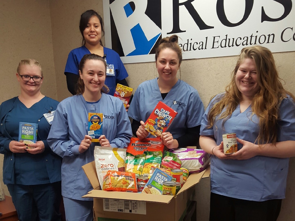 Ross Medical Education Center New Baltimore Port Huron Food Drive