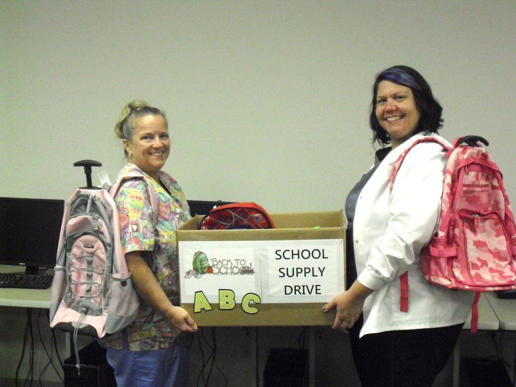 ross medical education center granger donates school supplies to clay middle school