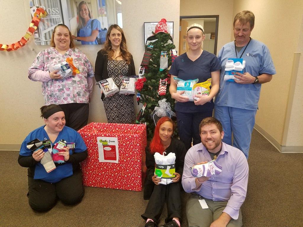 Ross Medical Education Center Portage Socks From Santa