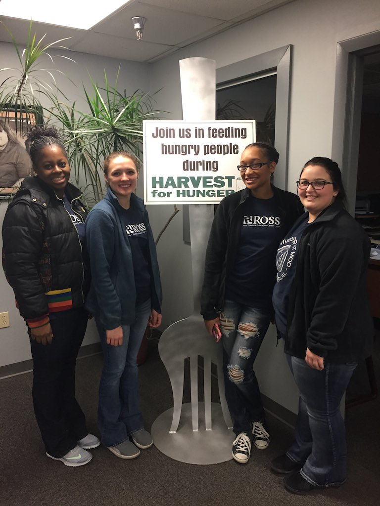 Ross Medical in Niles Volunteers at Second Harvest Food Bank