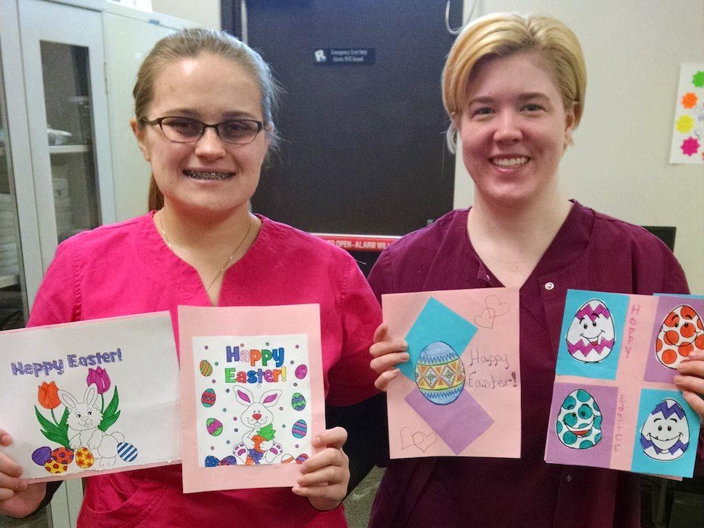Ross Medical Education Center Brighton Easter Cards for Seniors