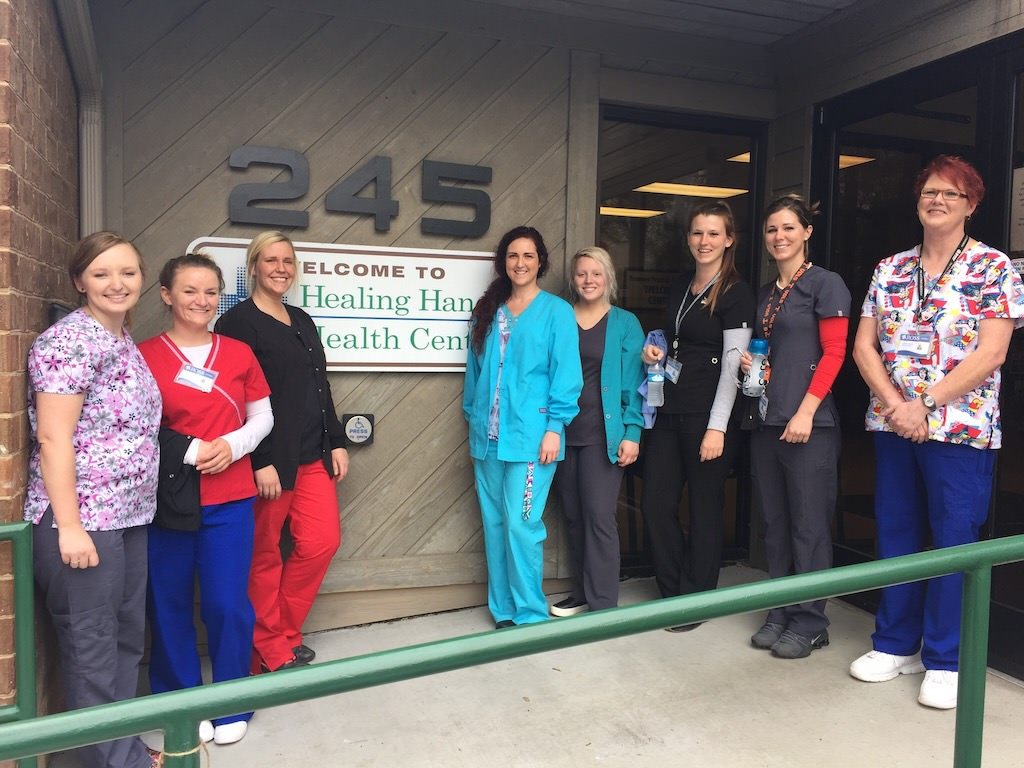 Ross Medical Education Center Johnson City Dental Assistant Students at Healing Hands Health Center