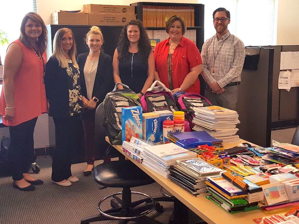 Ross College North Canton Project KARE School Supply Drive