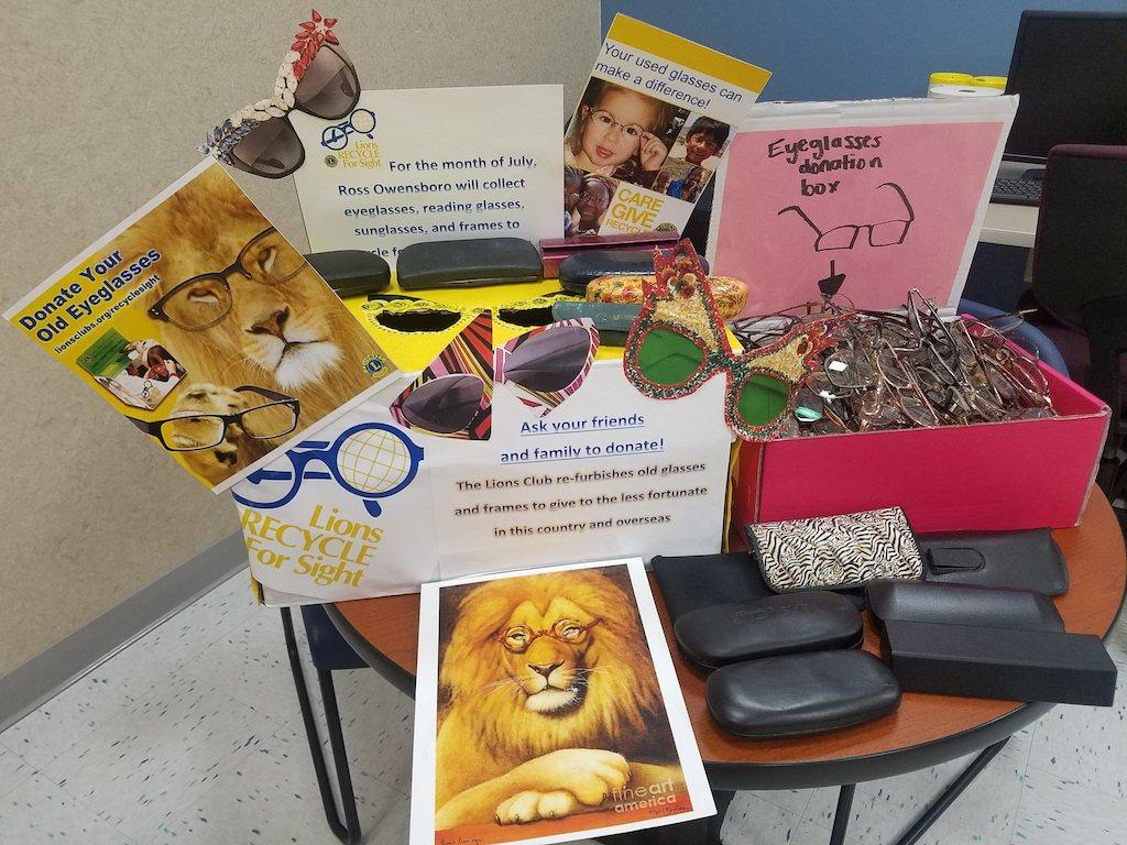 Ross Medical Education Center Owensboro Lions Club International Eyeglasses Drive