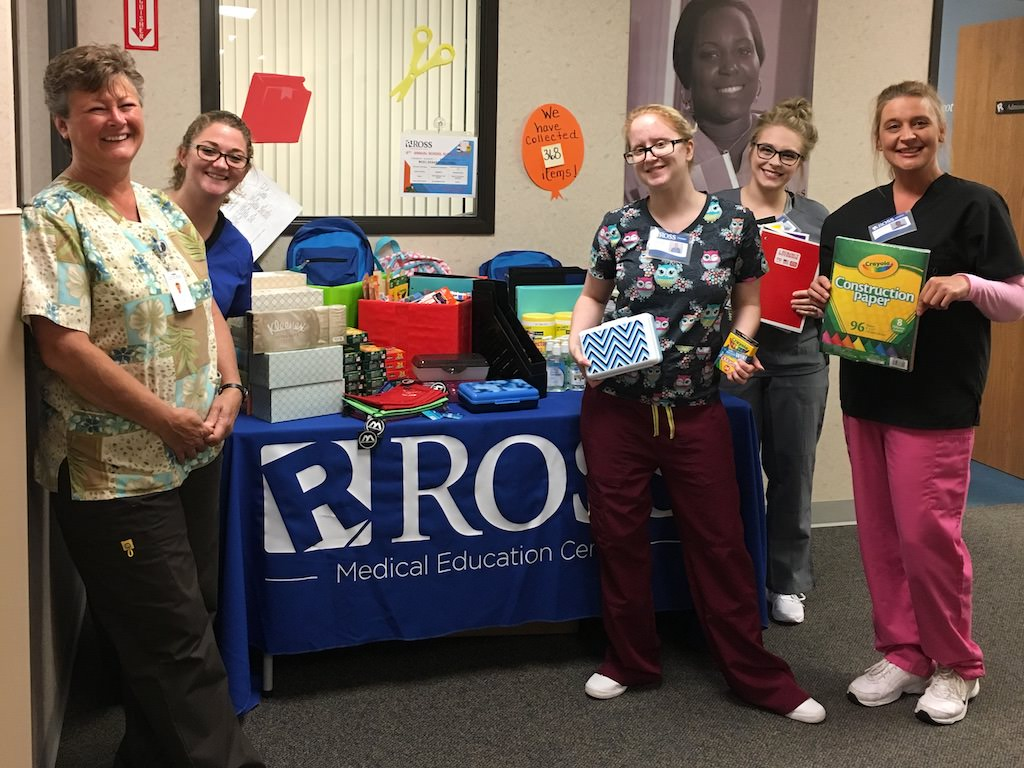 Ross Medical Education Center Port Huron PHASD School Supply drive