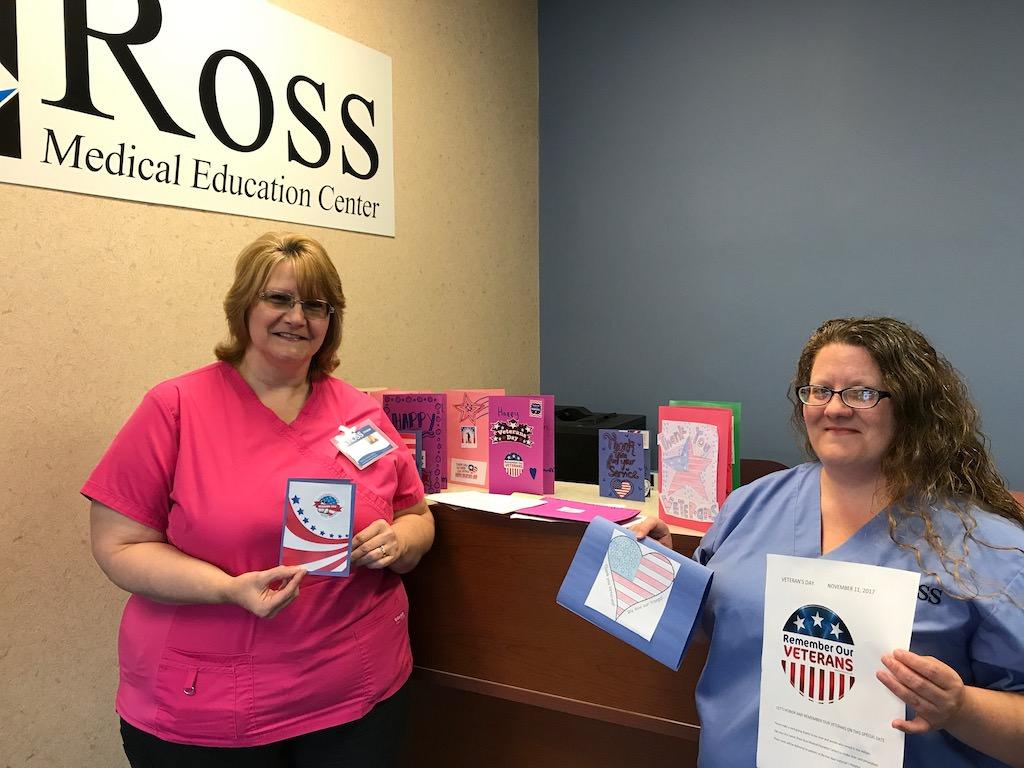 Ross Medical Education Center Brighton Veterans Day Cards