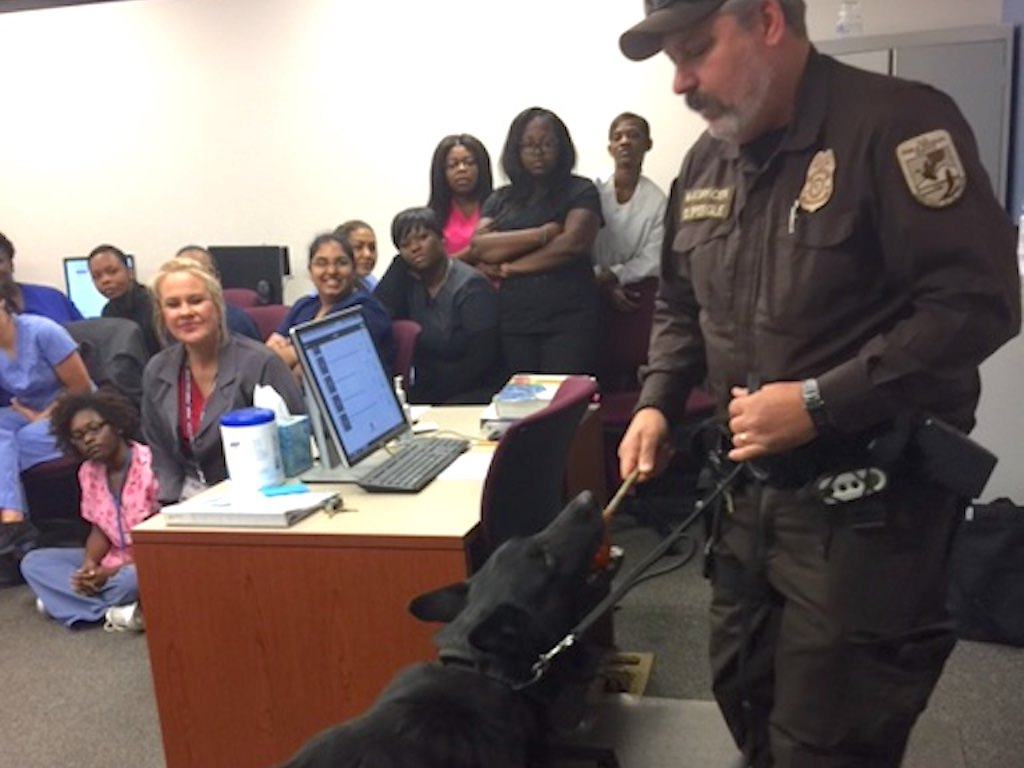 Ross Medical Education Center Huntsville K9 Officer Visit