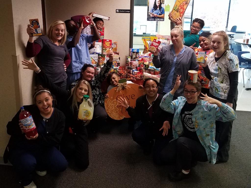 Ross Medical Education Center Cincinnati Thanksgiving Dinner for Local Families