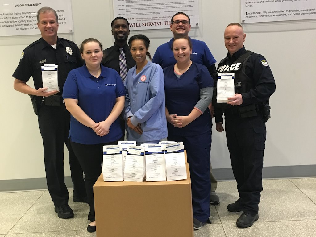 Ross College Hopkinsville Gives Goodies to Police Officers
