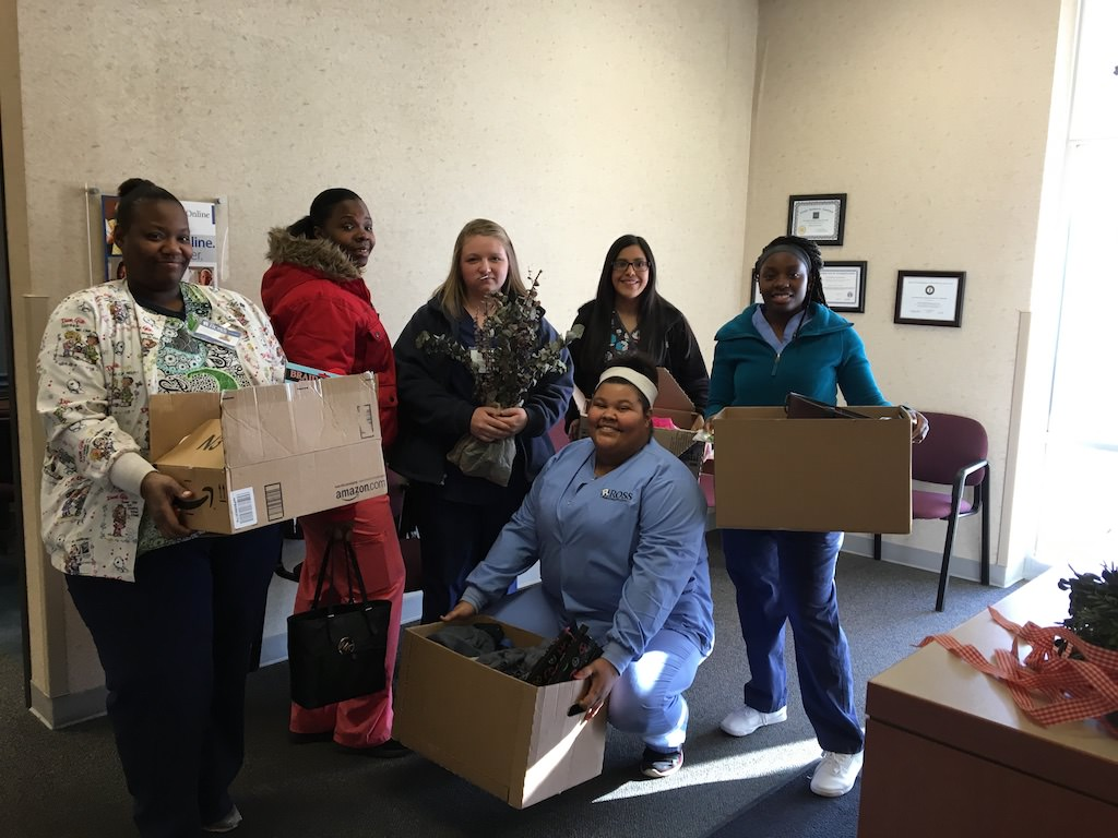Ross Medical Education Center Evansville Holiday Community Service