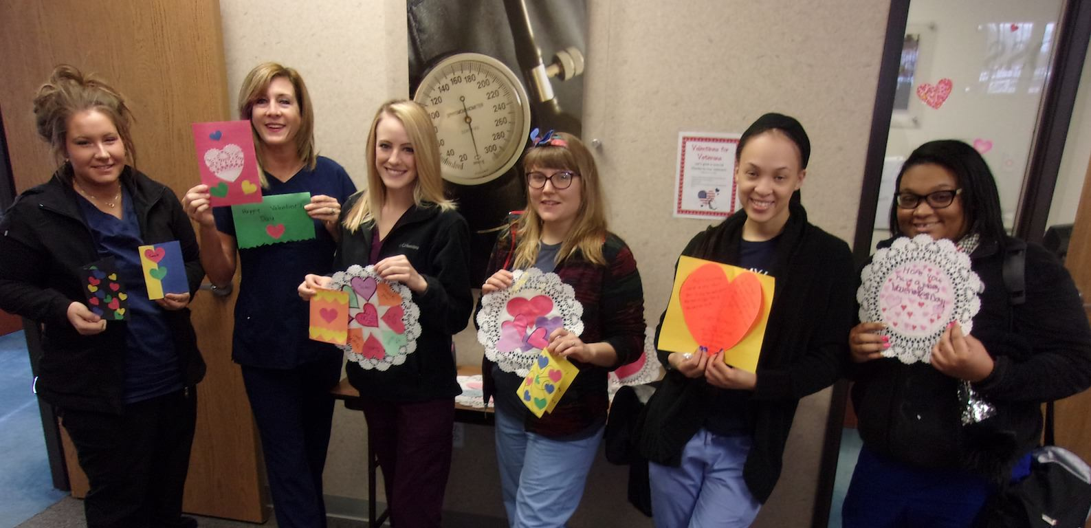 Ross Medical in Ann Arbor Makes Valentines for Veterans