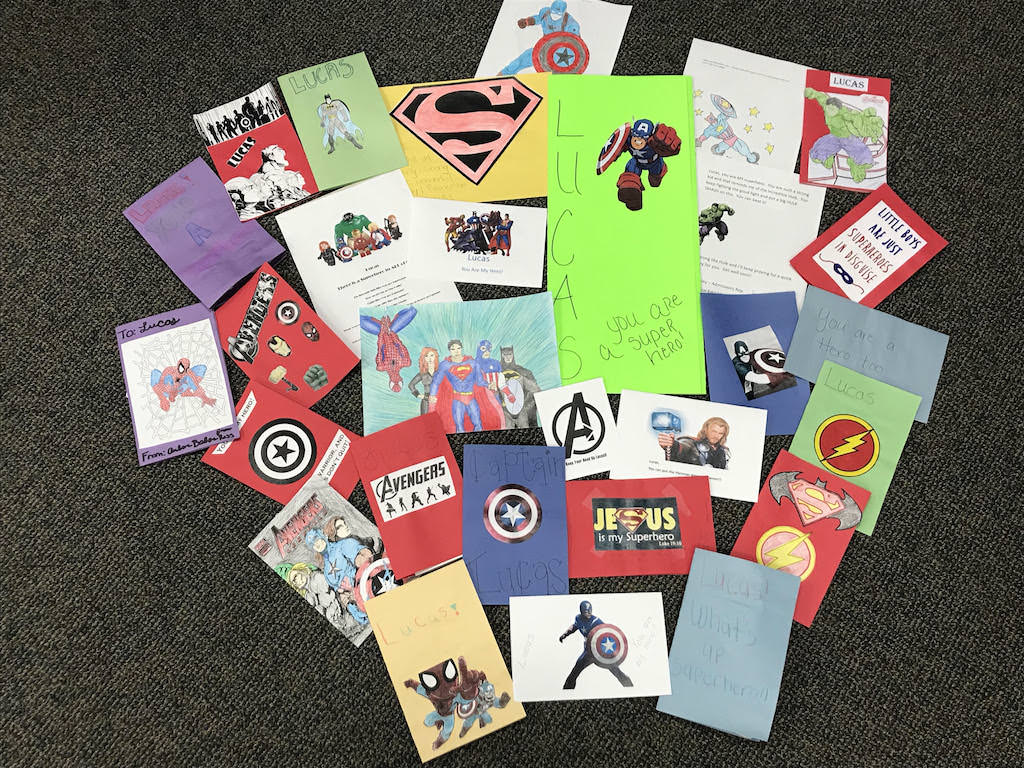 Ross Medical in Johnson City Makes Cards for Lucas