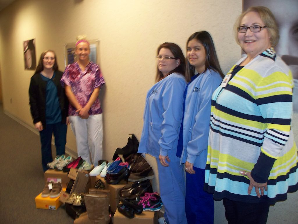Ross Medical Education Center Lansing Collects Shoes for Footprints of Michigan