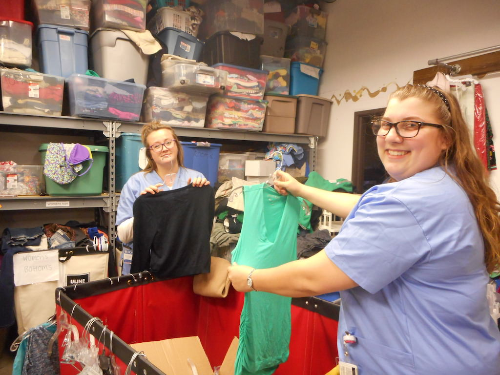 Ross Medical in Midland Volunteers at The Shelterhouse Resale Shop