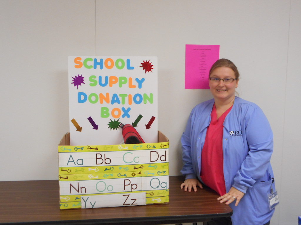 Ross Medical in Midland Helps to Stuff the Bus with Food & Supplies
