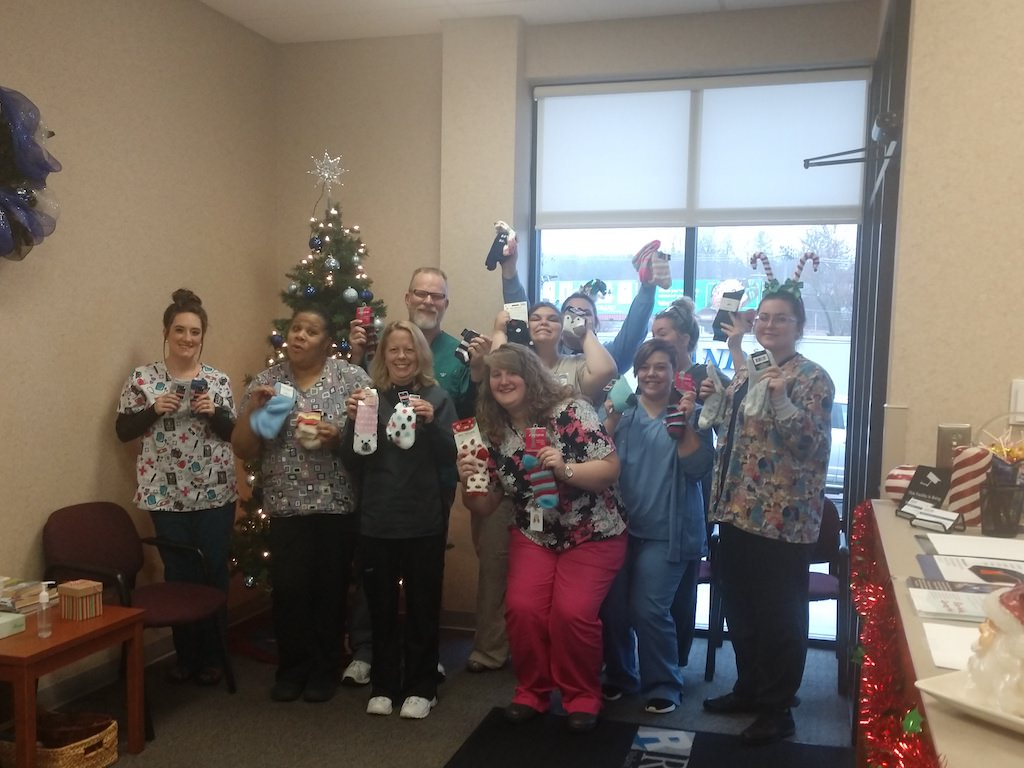 Ross Medical in Johnson City Collects Socks for ARCH Center