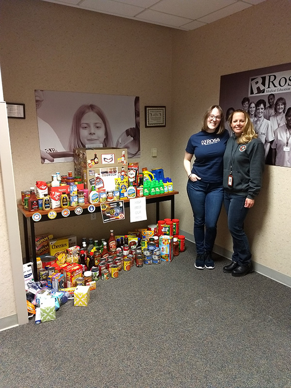 Ross in Saginaw Supports the 1% Veteran Food Pantry
