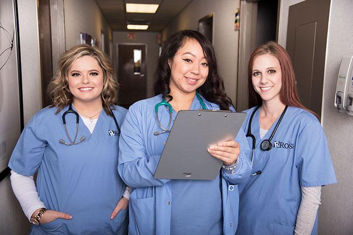 Healthcare training program students